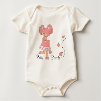 Patty Peach Baby Bodysuit