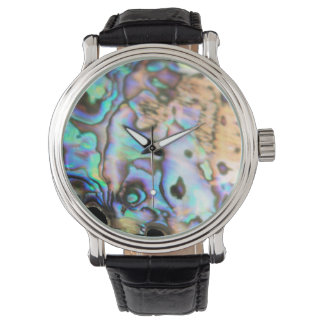 Paua abalone beautiful kiwiana shell watch