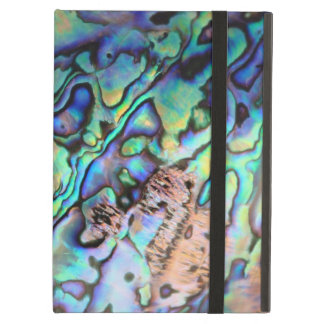 Paua abalone blue and green shell detail cover for iPad air