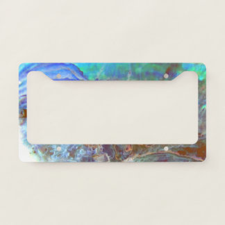 Paua - New Zealand black abalone Licence Plate Frame