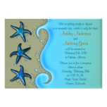 Paua Shell Starfish Post Wedding Reception Only Personalized Invitation