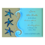 Paua Shell Starfish Save the Date Card Personalised Announcements