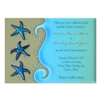 Paua Shell Starfish Wedding Invitation