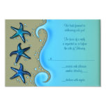 Paua Shell Starfish Wedding Reply RSVP Card Custom Invite