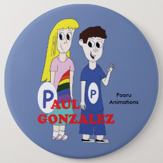 Paul and Roxie 6 Cm Round Badge