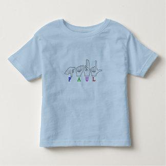 PAUL ASL FINGERSPELLED NAME SIGN TODDLER T-Shirt