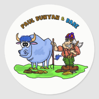 Paul Bunyan & Babe  The Blue Ox Stickers