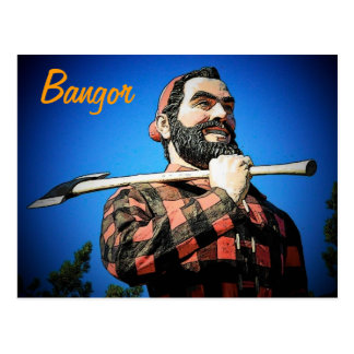 Paul Bunyan in Bangor Postcard