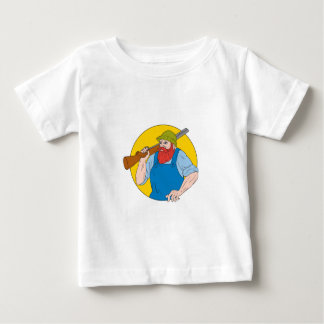 Paul Bunyan the Hunter Circle Drawing Baby T-Shirt
