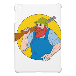 Paul Bunyan the Hunter Circle Drawing iPad Mini Cover