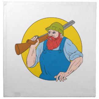 Paul Bunyan the Hunter Circle Drawing Napkin