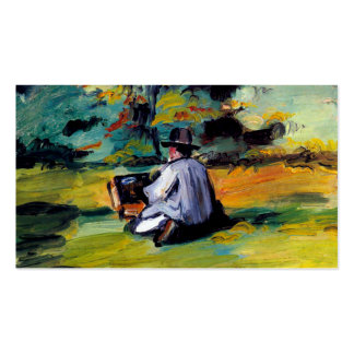 Paul Cezanne A Painter at Work impressionist art Double-Sided Standard Business Cards (Pack Of 100)