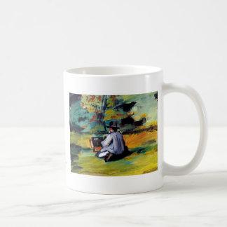 Paul Cezanne A Painter at Work impressionist art Coffee Mug
