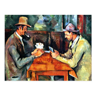 Paul Cezanne art: The Card Players (two) Postcard