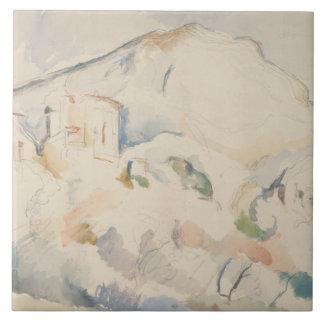 Paul Cezanne-Chateau Noir and Mont Sainte-Victoire Tile