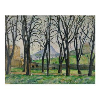 Paul Cezanne - Chestnut Trees at Jas de Bouffan Postcard