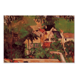 Paul Cezanne- Etude - Paysage a Auvers Poster