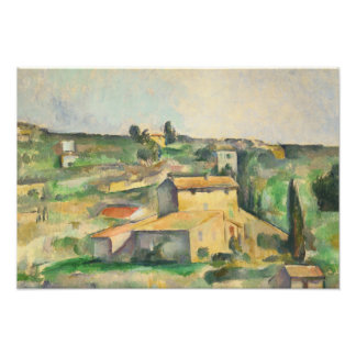 Paul Cezanne - Fields at Bellevue Photographic Print
