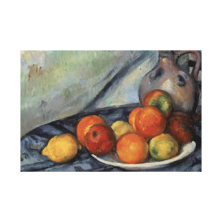 Paul Cezanne - Fruit and a Jug on a Table Canvas Print