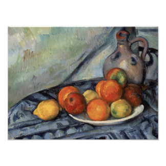 Paul Cezanne - Fruit and a Jug on a Table Photo