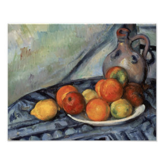 Paul Cezanne - Fruit and a Jug on a Table Photo Print