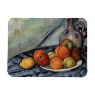 Paul Cezanne - Fruit and a Jug on a Table Rectangular Photo Magnet