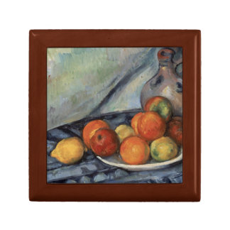 Paul Cezanne - Fruit and a Jug on a Table Small Square Gift Box