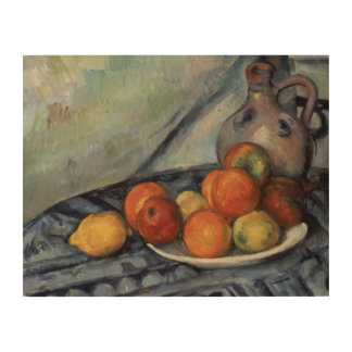 Paul Cezanne - Fruit and a Jug on a Table Wood Canvas