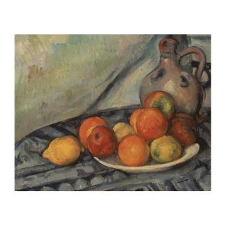 Paul Cezanne - Fruit and a Jug on a Table Wood Canvases