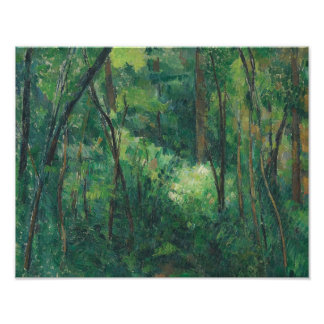 Paul Cezanne - Interior of a Forest Photographic Print