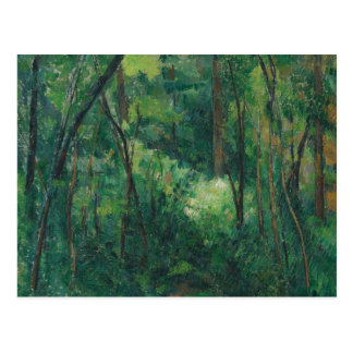 Paul Cezanne - Interior of a Forest Postcard