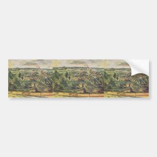 Paul Cezanne- Landscape of the Jas de Bouffan Bumper Sticker
