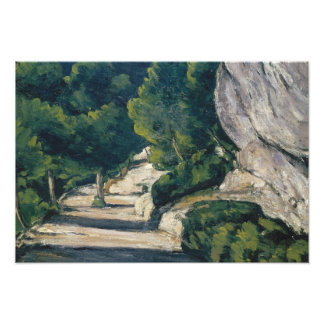 Paul Cezanne - Landscape. Road with Trees in Rocky Photo Print