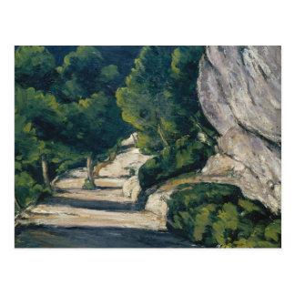 Paul Cezanne - Landscape. Road with Trees in Rocky Postcard
