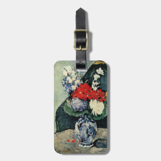 Paul Cezanne Luggage Tag - Delft Vase with Flowers