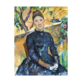 Paul Cezanne Madame Cézanne in the Conservatory Canvas Print