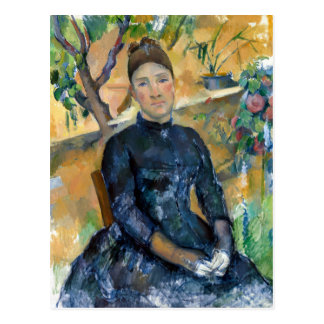 Paul Cezanne Madame Cézanne in the Conservatory Postcard