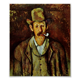 Paul Cezanne - Man with pipe Poster