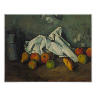 Paul Cezanne - Milk Can and Apples Poster