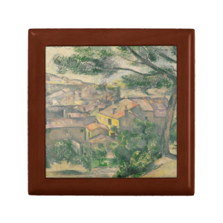 Paul Cezanne - Morning View of L'Estaque Against Small Square Gift Box