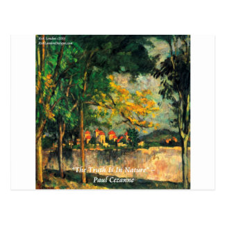 Paul Cezanne Nature Painting & Quote Postcard