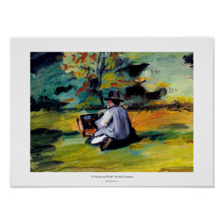 Paul Cezanne painter at work impressionist art Poster