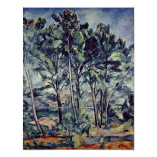 Paul Cezanne - Pines and Aqueduct (The Viaduct) Poster
