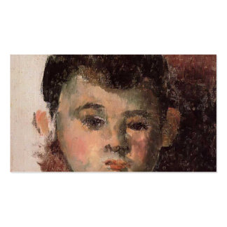 Paul Cezanne- Portrait of the Artist s Son Business Card Template