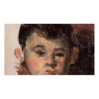 Paul Cezanne- Portrait of the Artist's Son Business Card Template