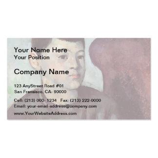 Paul Cezanne- Portrait of the Artist's Son Business Card Templates