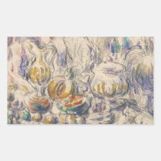 Paul Cezanne - Pot and Soup Tureen Rectangular Sticker