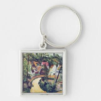 Paul Cezanne - Road bend Keychain