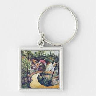 Paul Cezanne - Road bend Keychains