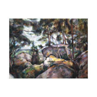 Paul Cezanne Rocks in the Forest Canvas Print